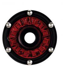 KC Hilites - Cyclone LED Rock Light Kit, Jeep JK/JL 6 PC Red – #91027 - 91027