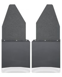 Husky Liners - Kick Back Mud Flaps 12in. Wide - Black Top and Stainless Steel Weight - 17104
