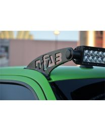 N-FAB - Roof Mounted Light Brackets; Gloss Black; For Use W/50 In. Light Bar; Side Mount; Gloss Black; - F9750LR