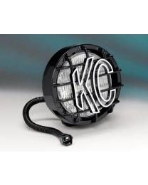 "KC Hilites - 6"" SlimLite Halogen Replacement Jeep Wrangler TJ (05-06) - Black - (Fog Beam) - 1133"