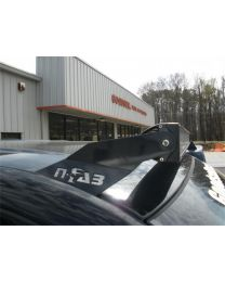 N-FAB - Roof Mounted Light Brackets; Gloss Black; For Use W/49 To 50 1/2 In. Light Bar; Inside Door Frame Mount; - D0249LR