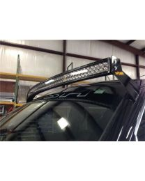 N-FAB - Roof Mounted Light Brackets; For Use W/54 In. Light Bar; Side Mount; Direct Fit Radius Led; Gloss Black; - F0954RLR