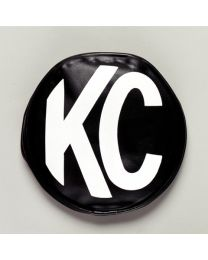 "KC Hilites - 5"" Vinyl Cover - KC #5400 (Black with White KC Logo) - 5400"