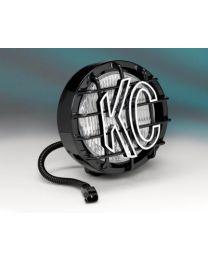 "KC Hilites - 6"" SlimLite Halogen Replacement Jeep Wrangler TJ (97-04) - Black (Fog Beam) - 1131"