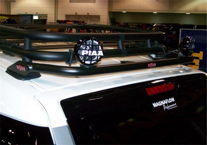 N Fab Roof Mounted Light Bar Black Powder Coated Rear Holds Up To Four 9 In Lights Tfj4rlr